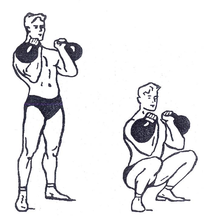 Упражнении с гирями картинках и для какой мышцы